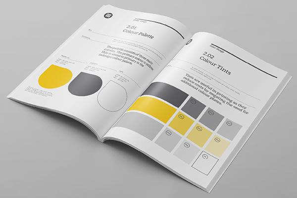 brand guideline manual design creative visuals. Black Bedroom Furniture Sets. Home Design Ideas